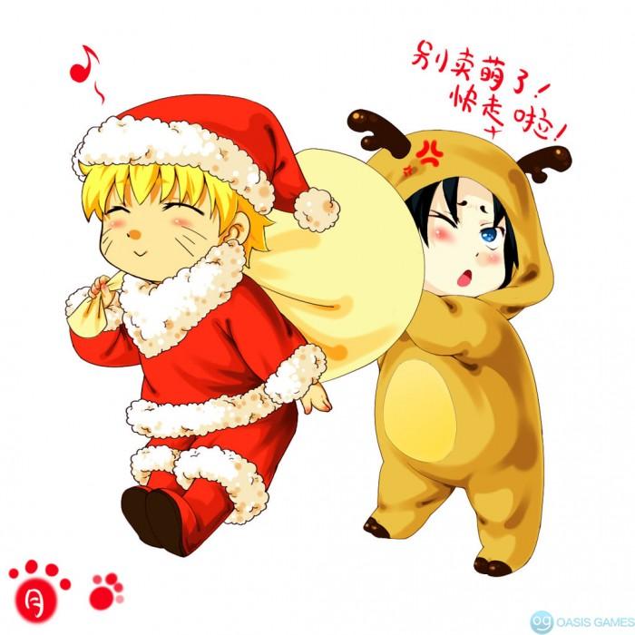 sasunaru____merry_christmas_by_jiegengdai-d5p7p4c