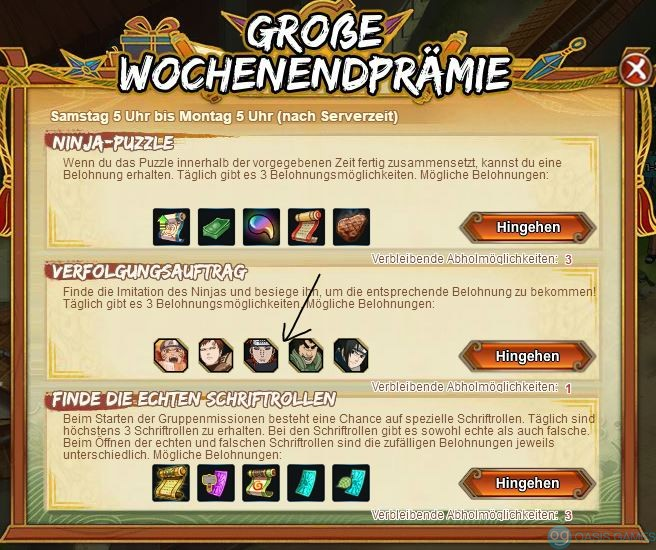 Naruto Online Pain Anfrage
